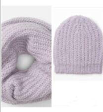 New Club Monaco Women Lavender Daylina Infinity Scarf/ Cowl & Hat Set