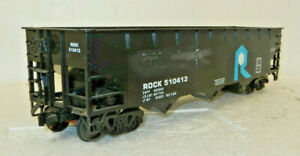 Unbranded O Scale Chicago, Rock Island and Pacific 3 Bay Hopper
