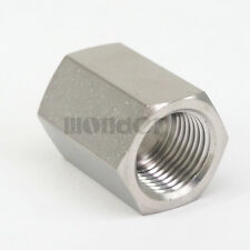 """1/2"""" BSP Female 304 Stainless Steel Hex Nut Rod Pipe Fitting Connector Adapter"""