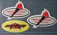 Anarchy Eyewear - factory Logo vintage sticker, surf, skate, motocross, set of 3