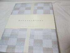New Barbara Barry ILLUSION - Quick Silver Euro European Pillow Sham Tan/Silver