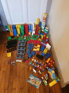 Gros lot 7 kg Lego Duplo Briques Rails Train Disney 10606 Pêche 5654 Animalerie
