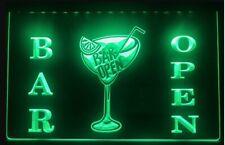 Bar Open Cocktails LED Neon Sign Home Light Up Drink Pub Cocktail gin wine bar
