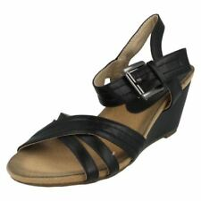 Zapatos de tacón de mujer de leopardo de sintético