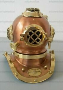 Antique Brass & Iron Mini Divers Helmet 7 Inch Collectibles Divers Diving Helmet