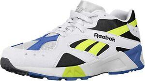 Reebok Mens Aztrek Running Shoes.Color- White/Black/Cobalt/Yellow. US 10 D