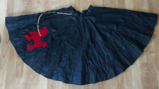 Lot of 6 Black Poodle Skirts Dance Halloween Costume, Lots of Color