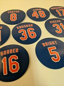 New York Mets Magnets - Best Ever - Carter Gooden Seaver DeGrom Wright Piazza
