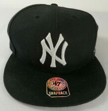 a174116a Forty Seven 47 Brand New York Yankees Curved Snapback Black Baseball Cap MLB