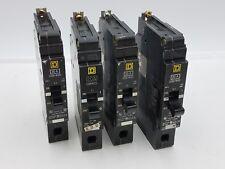 4Pc Square D EDB14020 Circuit Breaker 20A 1P 277V Used EDB 20 Amp 1 Pole 277VAC