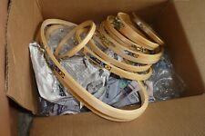 Lot of 14 Embroidery Hoops Wood Crewel Various Sizes Including 2 oval