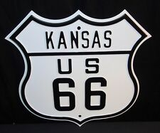 """NOS US Route 66 Kansas 16.5"""" X 16"""" Heavy Duty Ande Rooney Steel Street Sign"""