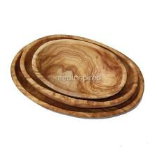 OLIVE WOOD OVAL 3 STACK DISHES / BOWLS FOR NUTS (OL030)