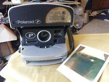 De Colección cámara de películas instantáneas Polaroid P 600 Plata ~ buenas condiciones de funcionamiento