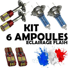 KIT 6 AMPOULE XENON • 2x H7 + 2x H1 + 2x LED T10 • PACK KIT VW GOLF 6 TDI I FSI