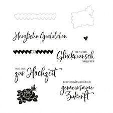 Motiv-stempel Clear-stamp Stanz-schablone Hochzeit Gruß Rose Mundart MV-CSS-425