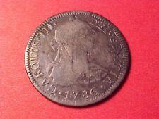 MEXICO COLONIAL 2 REALES SILVER 1786-FB DIE CLASH