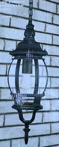 Faro Barcelona Outdoor Lighting Garden Hanging Lantern Porch Light 73531 Black