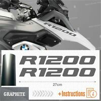 2pcs Adesivi Graphite compatibile Moto BMW R 1200 GS LC R1200 ADVENTURE R1200GS