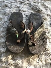 Sanuk Dark Brown Beer Cozy Flip Flops Mens 7