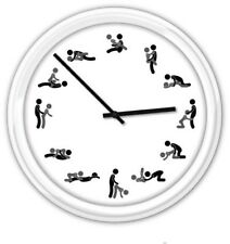 Karma Sutra SILENT Wall Clock - Sex Sexual Positions Foreplay Chart - GREAT GIFT