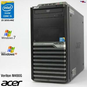 PC Computer Acer Veriton M490G Intel Core i5 650 RS-232 Parallel Lpt Windows XP