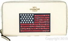 Coach Leather American Flag Accordion Zip Wallet NEW! F73608