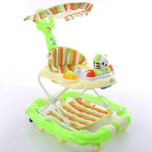 2 in 1 Multifunctional Baby Walker Universal Wheel Foldable Baby Rocking Chair
