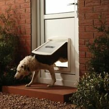 Large Dog Flap Extra Large XL 2 Way Door Gate Entrance Lockable Pet Wall Exit