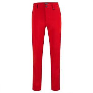 NWT Golfino Ladies Scarlet Red Performance Trend 4363722 trouser 2 4 6 8 10 12