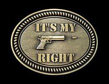 It's My Right Pro Gun Rights Law Second Amendment Belt Buckle Boucle de Ceinture