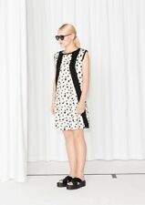 &Other stories women's size 6 Dalmation jersey black & white dress $75 price NWT