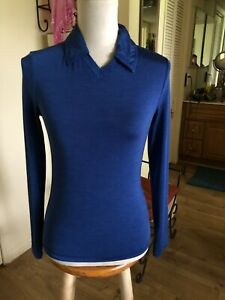 Versace Jeans Couture Women  Blue Top Sz M (Made in Italy)