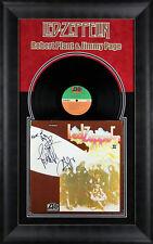 Led Zeppelin (3) Page, Jones & Plant Signed & Framed II Album Cover W/ Vinyl BAS
