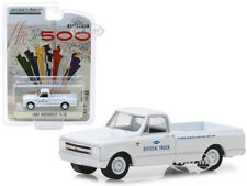 """1967 CHEVROLET C-10 PICKUP TRUCK WHITE """"INDIANAPOLIS RACE"""" 1/64 GREENLIGHT 30029"""
