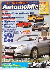 Le moniteur Automobile 5/07/2006; VW Eos/ 24 H du Mans/ Alfa Roméo Spider/ Kia