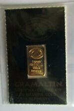 1 g Goldbarren im Blister mit Zertifikat