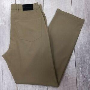 Alberto Tom Ceramica Dress Pants Mens 32x33 Brown Mid Rise Straight Leg J920