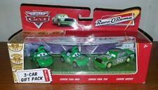Disney Pixar Cars Chick Hicks Fan Mia and Tia 3 Gift Pack Mattel Race o Rama