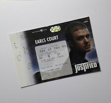 More details for justin timberlake memorabilia / tickets - unused ticket(s) earls court 06/12/03