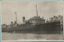 More details for the new g.w.r. cargo vessel s.s. sambur weymouth harbour ~ s.t. abrahams