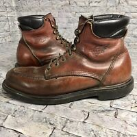 Authentic RED WING 202 Classic Moc-Toe Brown Leather Work Boots Mens Size 12 B