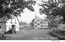 1920's/30's Cape Porpoise Maine Coca Cola Old Autos Atlantic Hall Fire Station