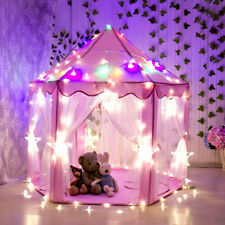 LED Lighted Girls Pink Princess Playhouse Castle Children Kids Play Toy Tent