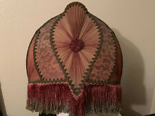 Rare Antique Victorian Wire Frame And Fabric Lamp Shade  ~ Great Condition