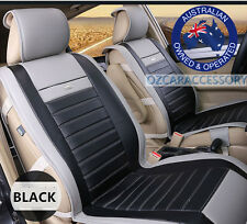 Black Universal Leather Car Seat Covers Full Set Toyota Camry Corolla RAV4 JYZ
