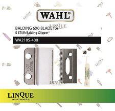 WAHL 2-Hole 6X0 Blade for 5 star Balding Clipper (Incl. Oil & Screws) WA2105-400