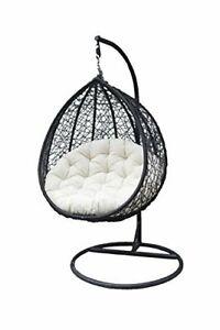 Hanging Swing Chair With Cushion & Hook Outdoor Garden Indoor Balcony Beach