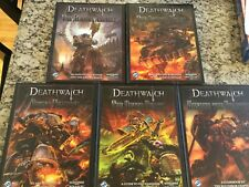 FFG Deathwatch RPG Lot 5 Books Brand New Hardcovers Warhammer 40k Roleplaying