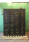 Library Bureau Sole Makers 20 Drawer Library Card Catalog File Cabinet Steel